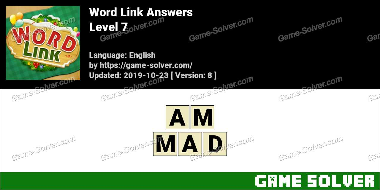 Word Link Level 7 Answers