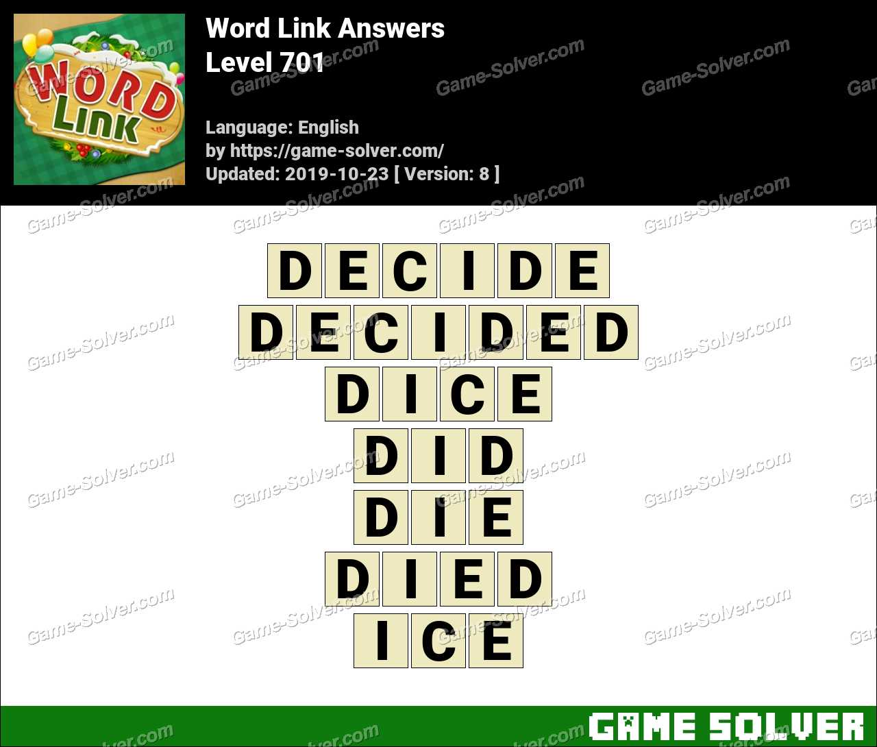 Word Link Level 701 Answers