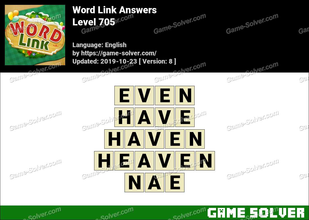 Word Link Level 705 Answers