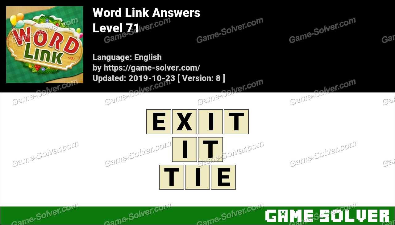 Word Link Level 71 Answers