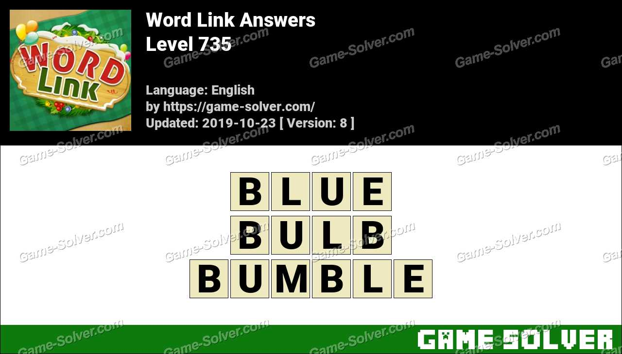 Word Link Level 735 Answers