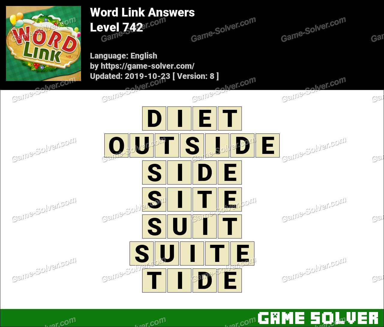 Word Link Level 742 Answers