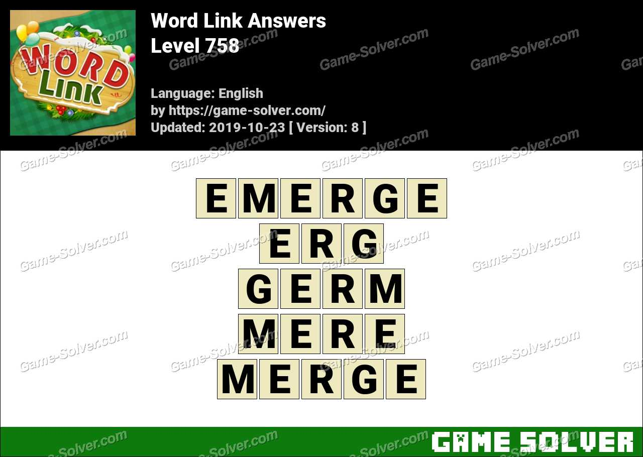 Word Link Level 758 Answers