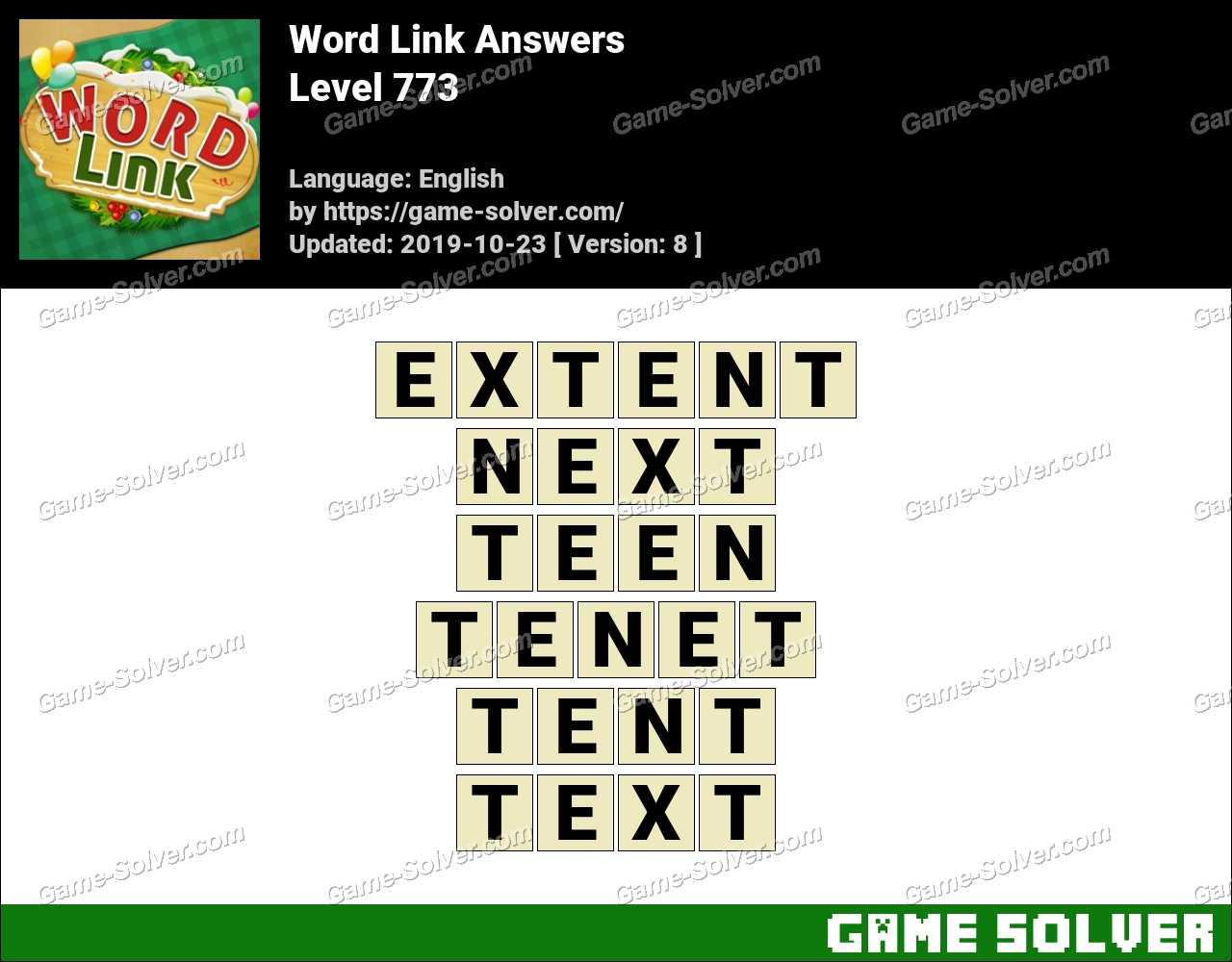 Word Link Level 773 Answers