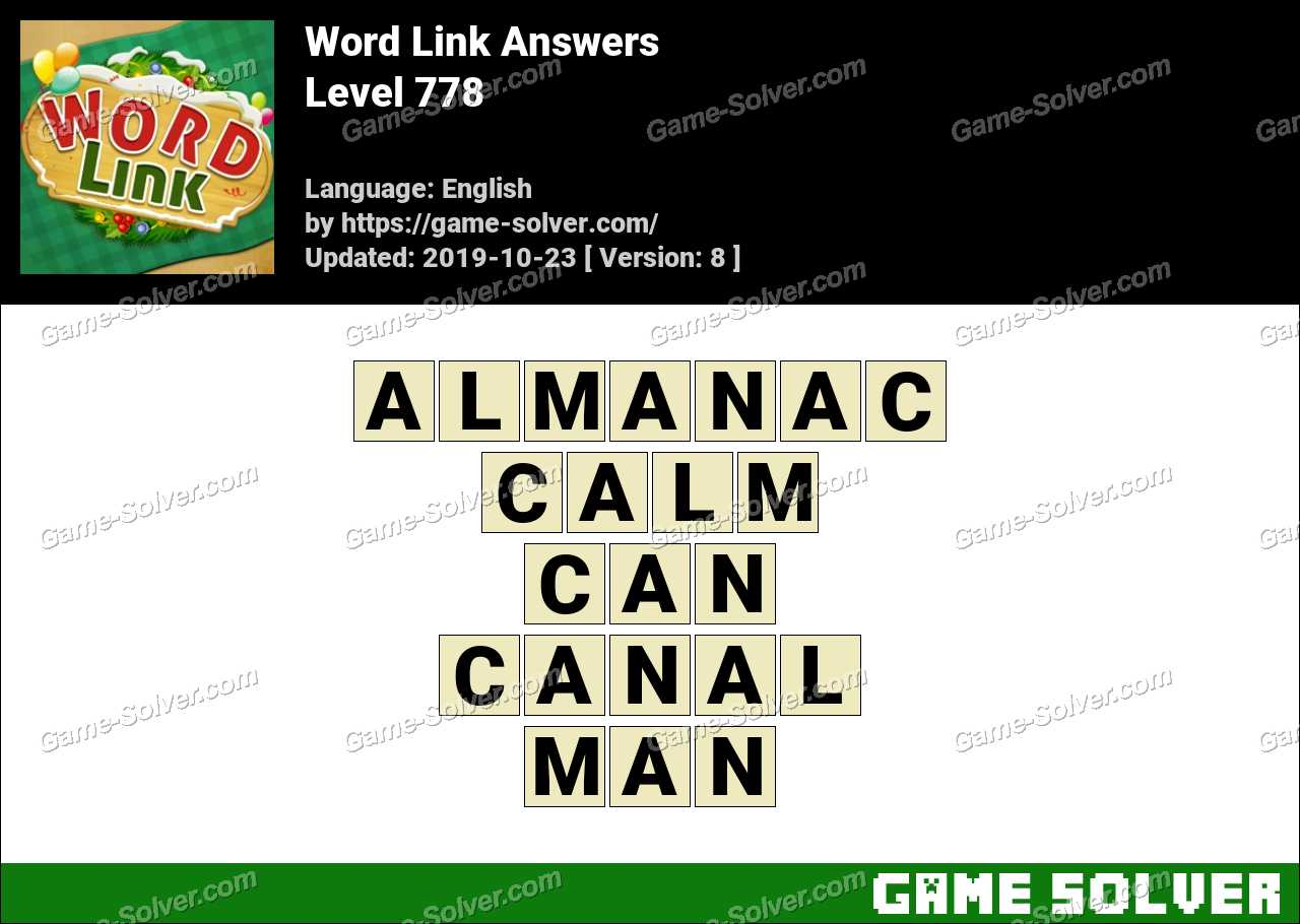 Word Link Level 778 Answers