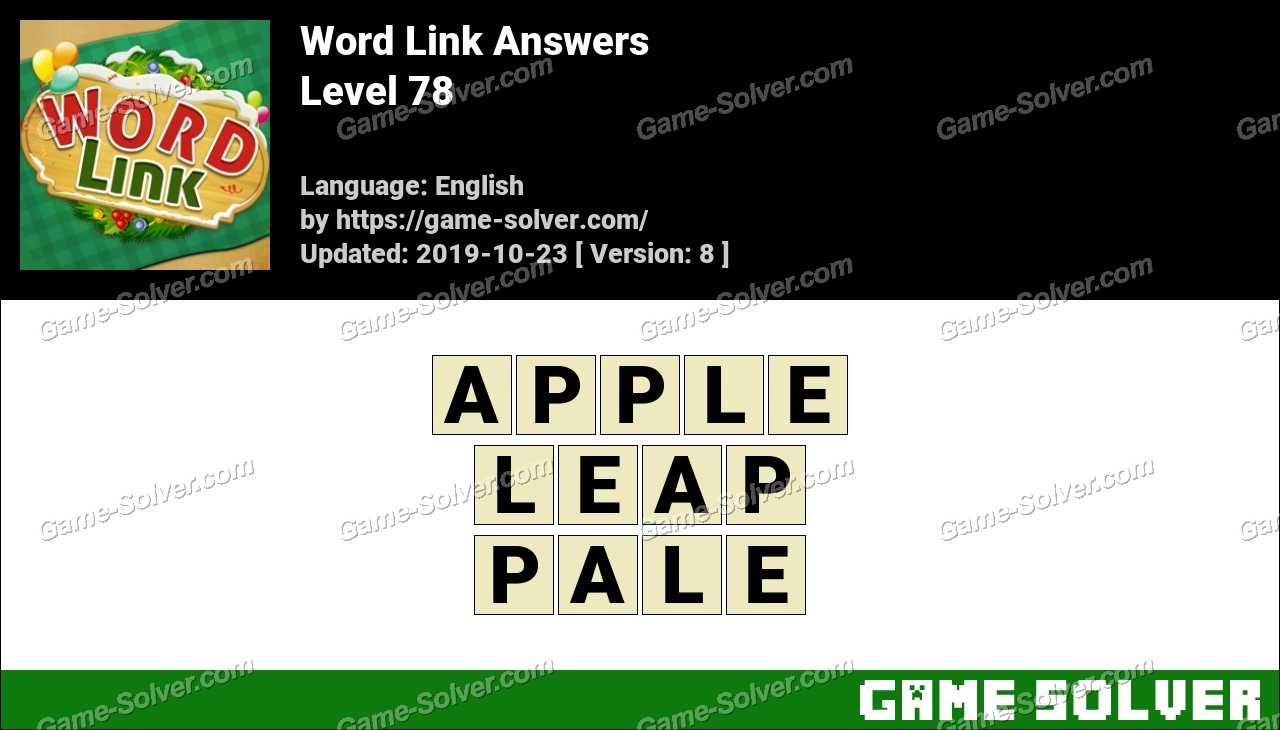 Word Link Level 78 Answers