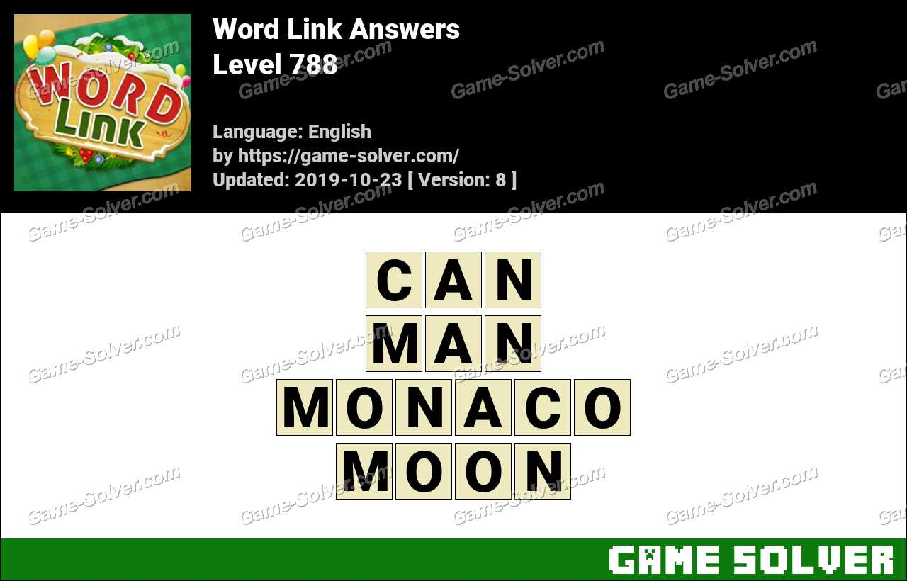 Word Link Level 788 Answers