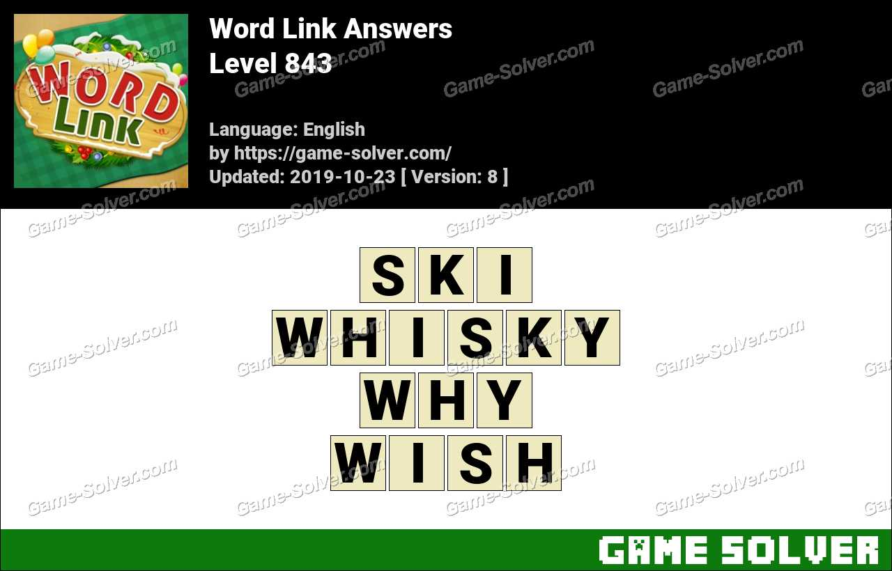 Word Link Level 843 Answers