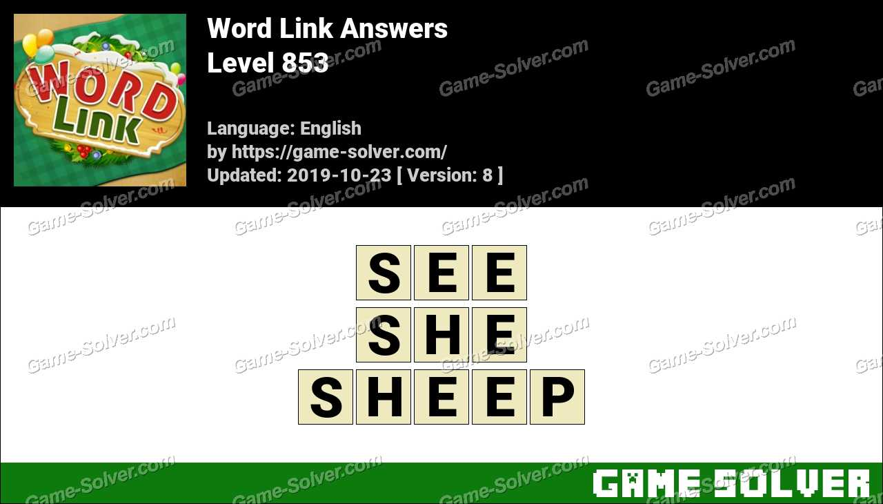 Word Link Level 853 Answers