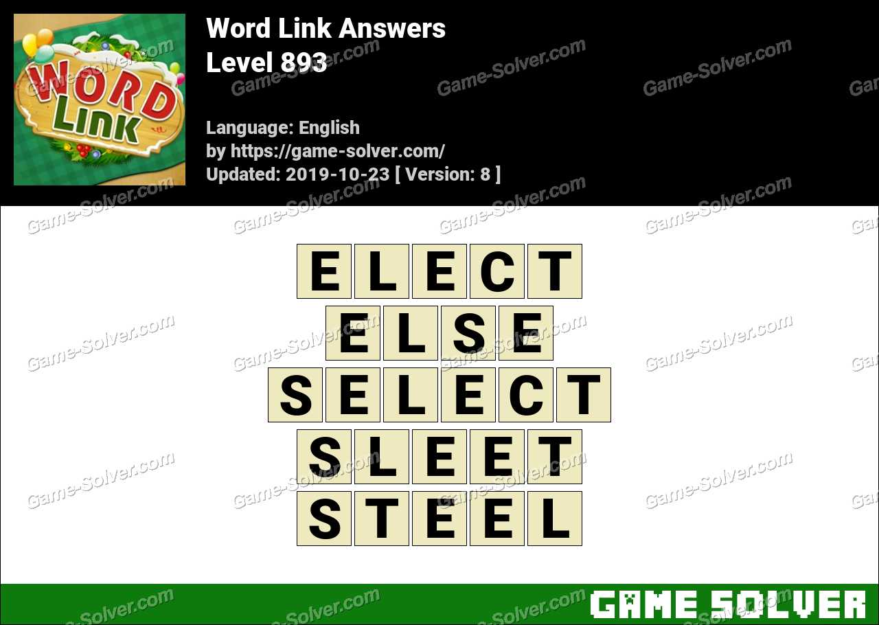 Word Link Level 893 Answers