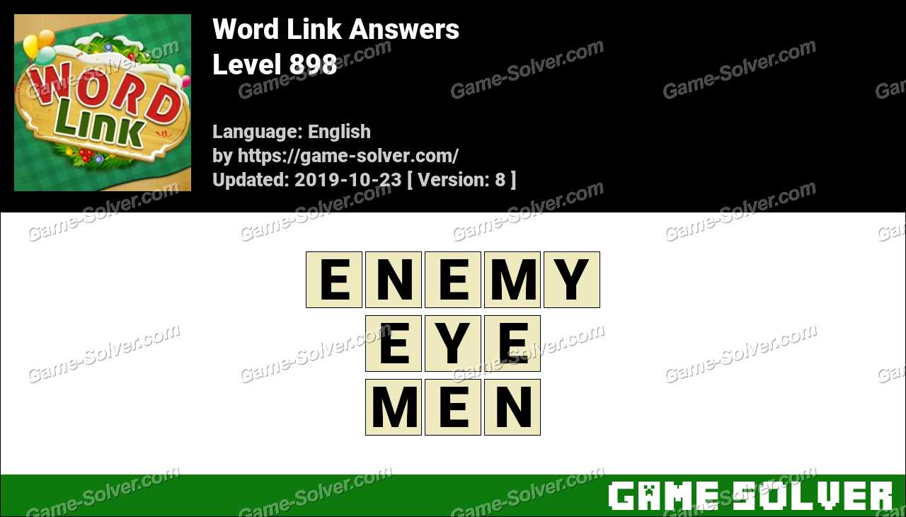 Word Link Level 898 Answers