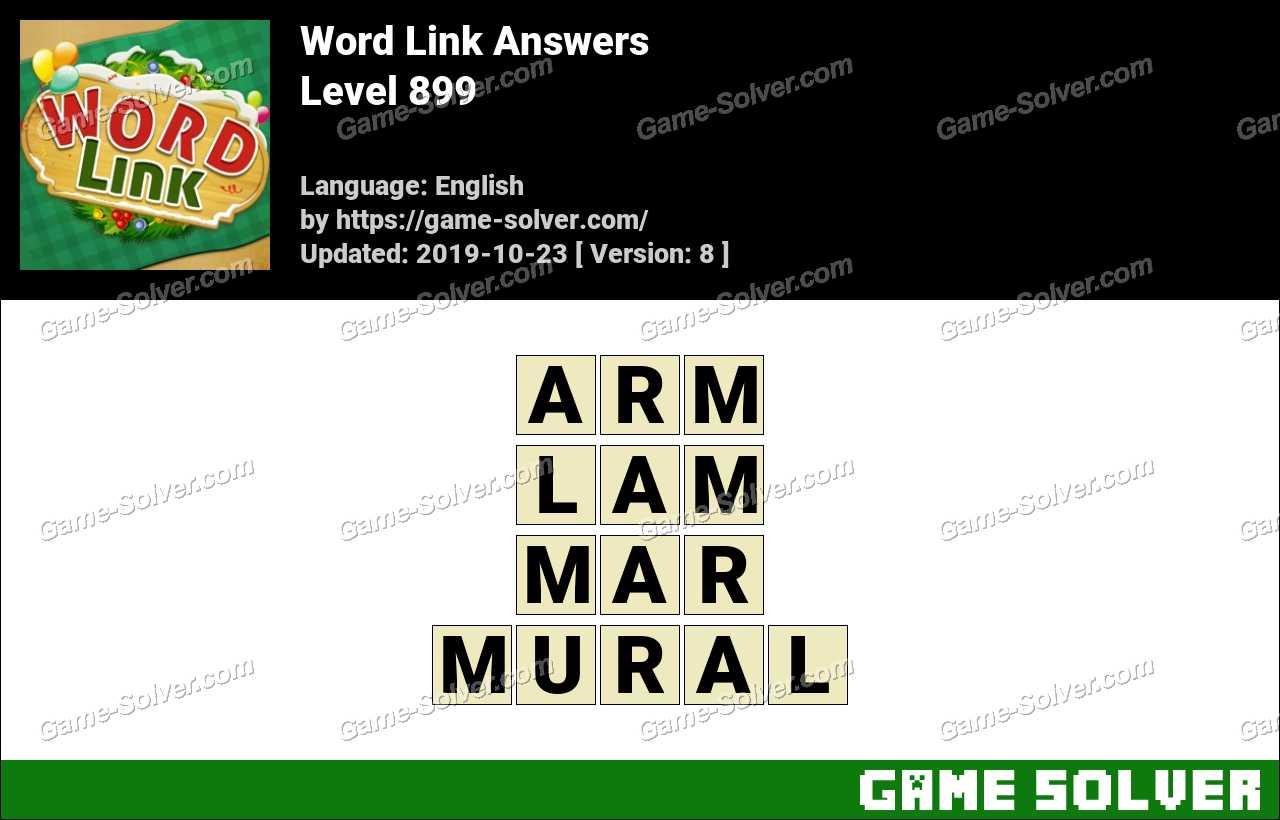Word Link Level 899 Answers
