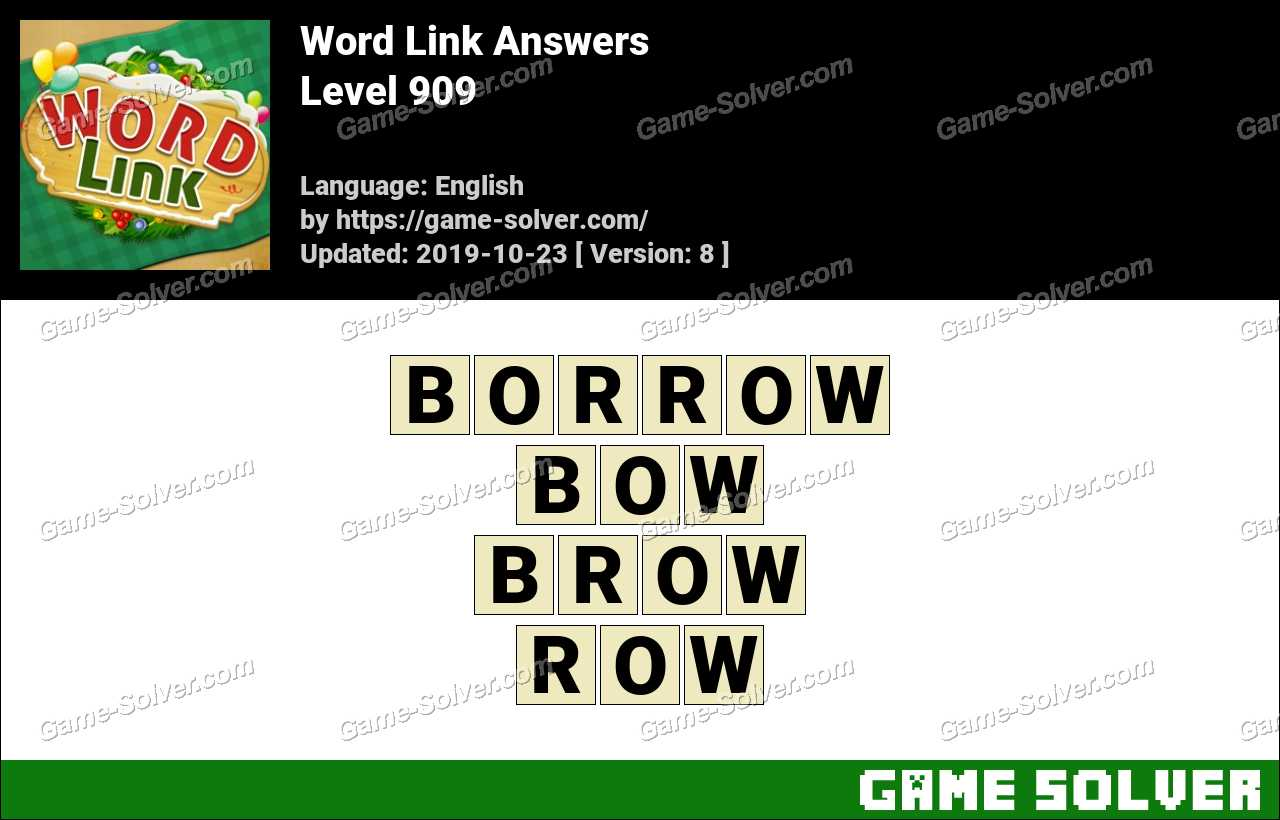 Word Link Level 909 Answers