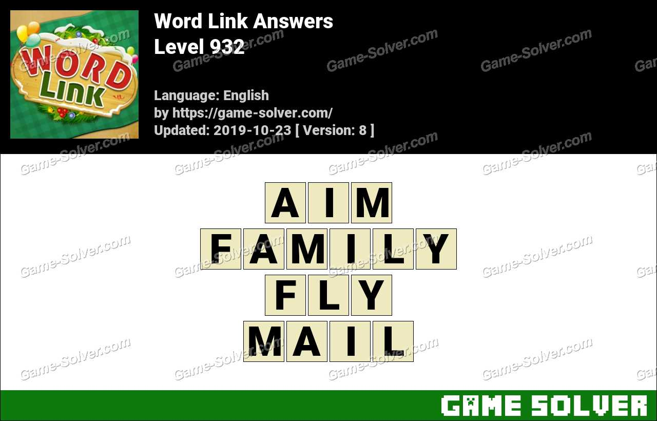 Word Link Level 932 Answers