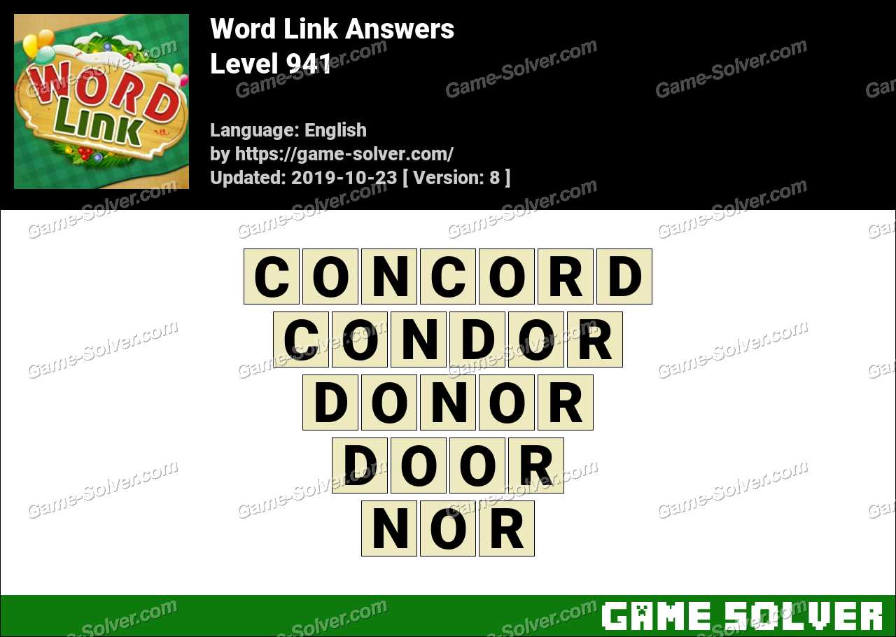 Word Link Level 941 Answers