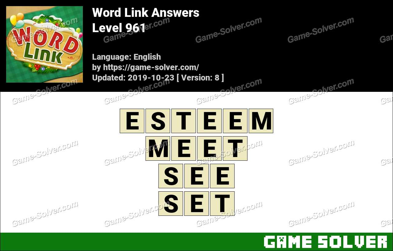 Word Link Level 961 Answers