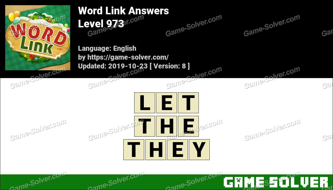Word Link Level 973 Answers