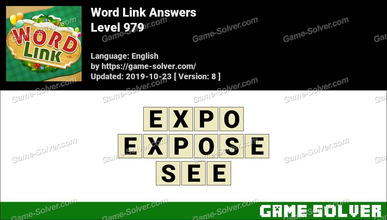Word Link Level 979 Answers