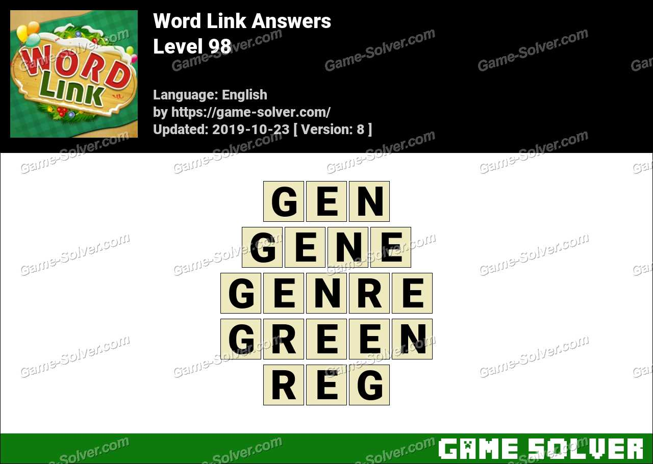 Word Link Level 98 Answers