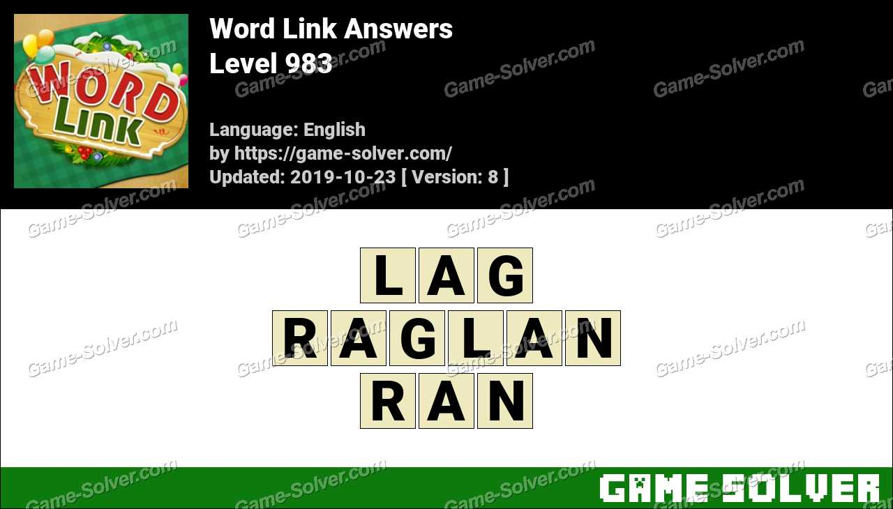 Word Link Level 983 Answers