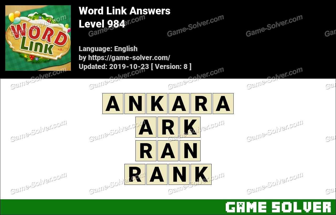 Word Link Level 984 Answers