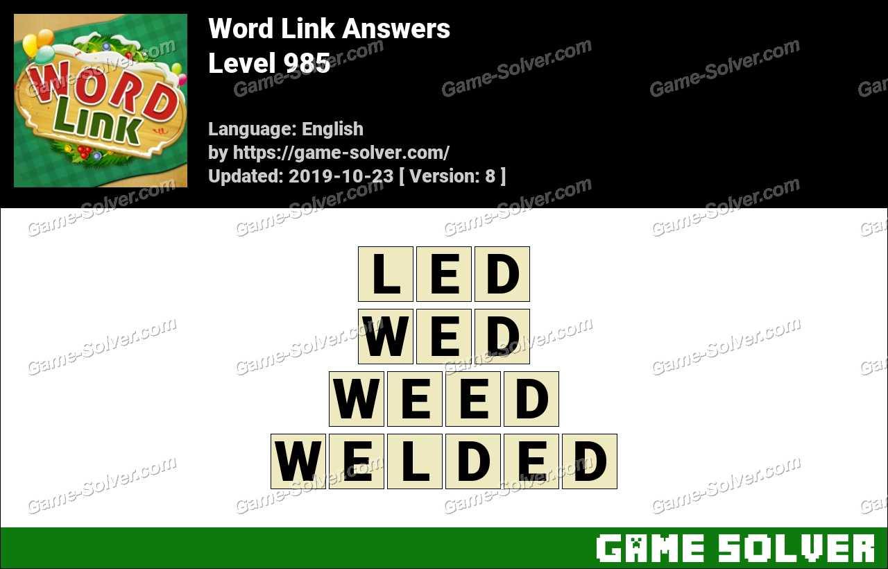 Word Link Level 985 Answers