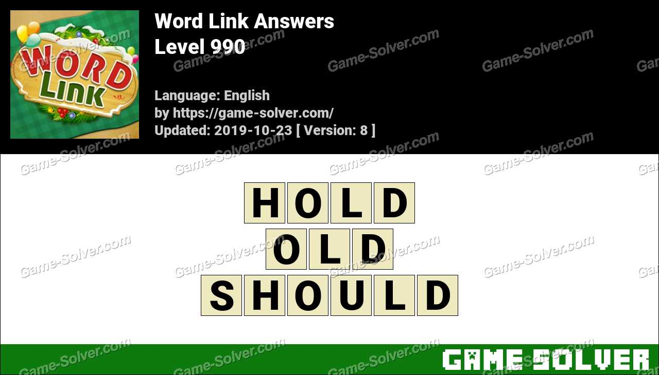 Word Link Level 990 Answers