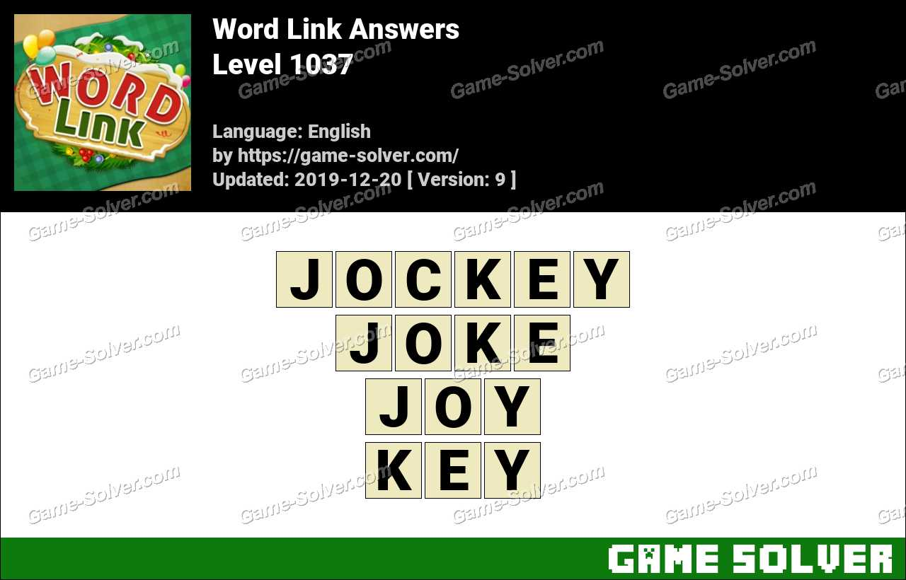 Word Link Level 1037 Answers