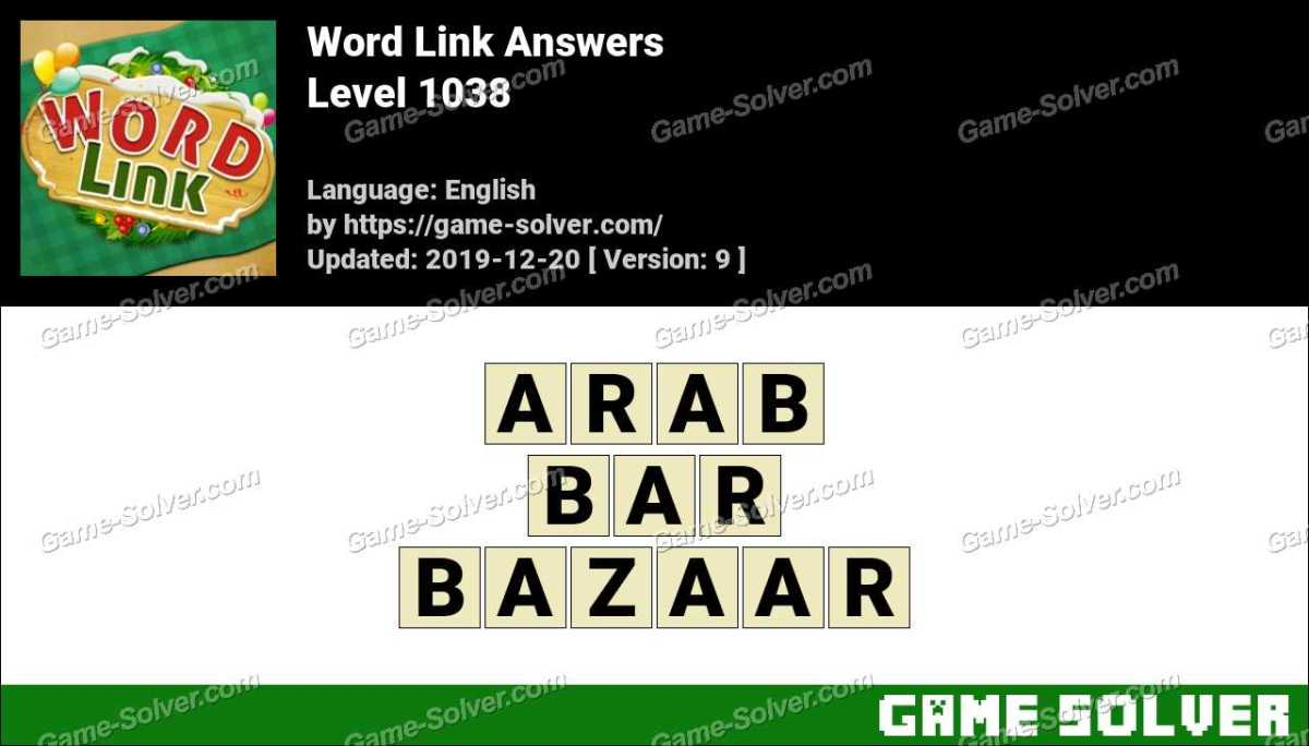Word Link Level 1038 Answers