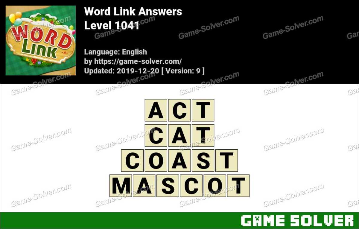 Word Link Level 1041 Answers