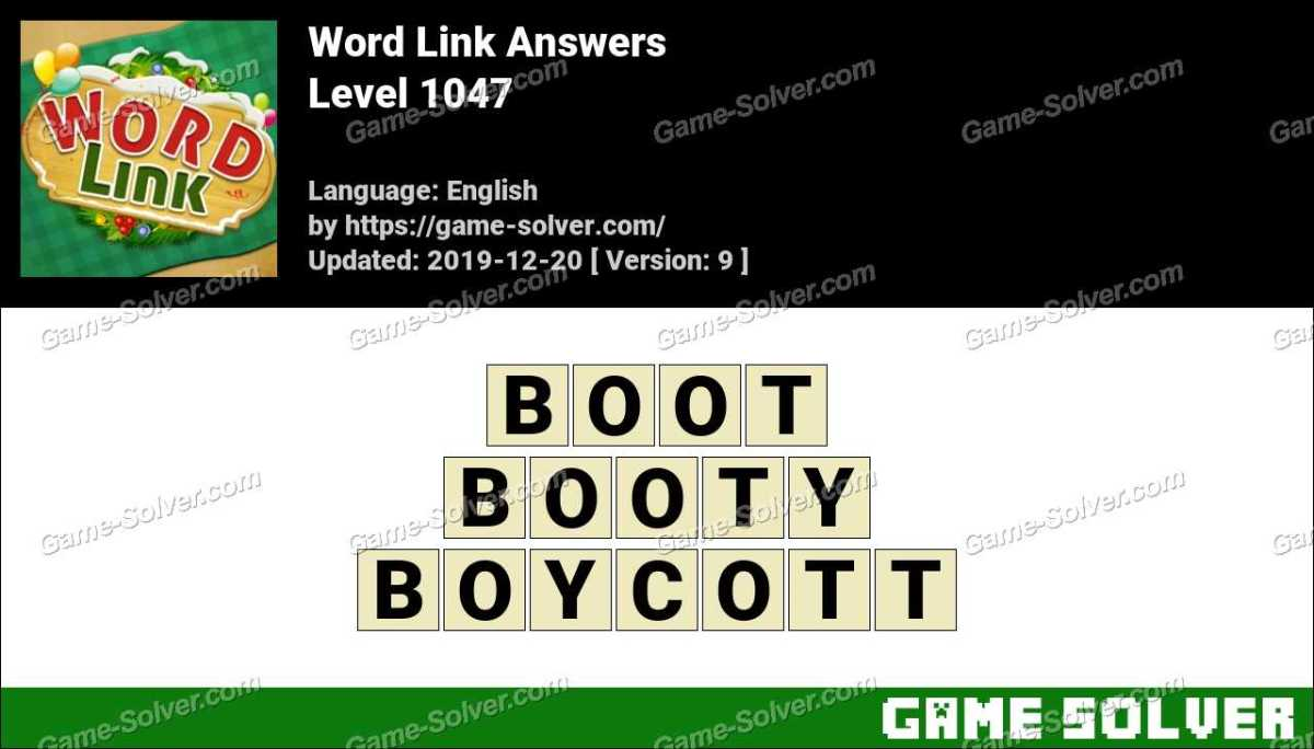 Word Link Level 1047 Answers