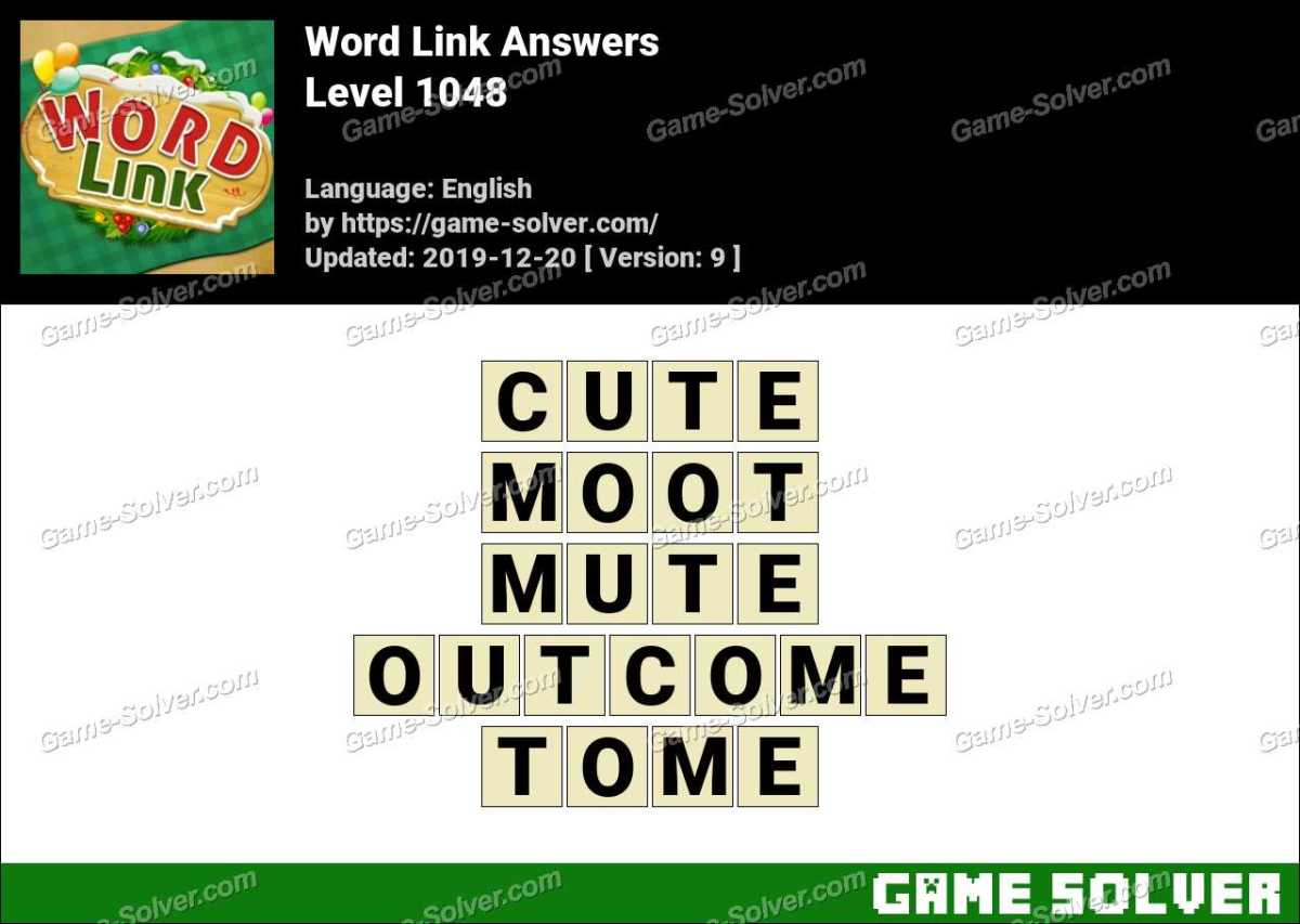 Word Link Level 1048 Answers