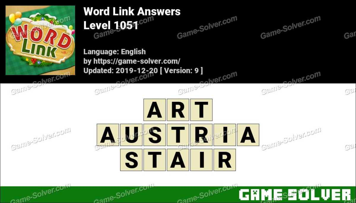 Word Link Level 1051 Answers
