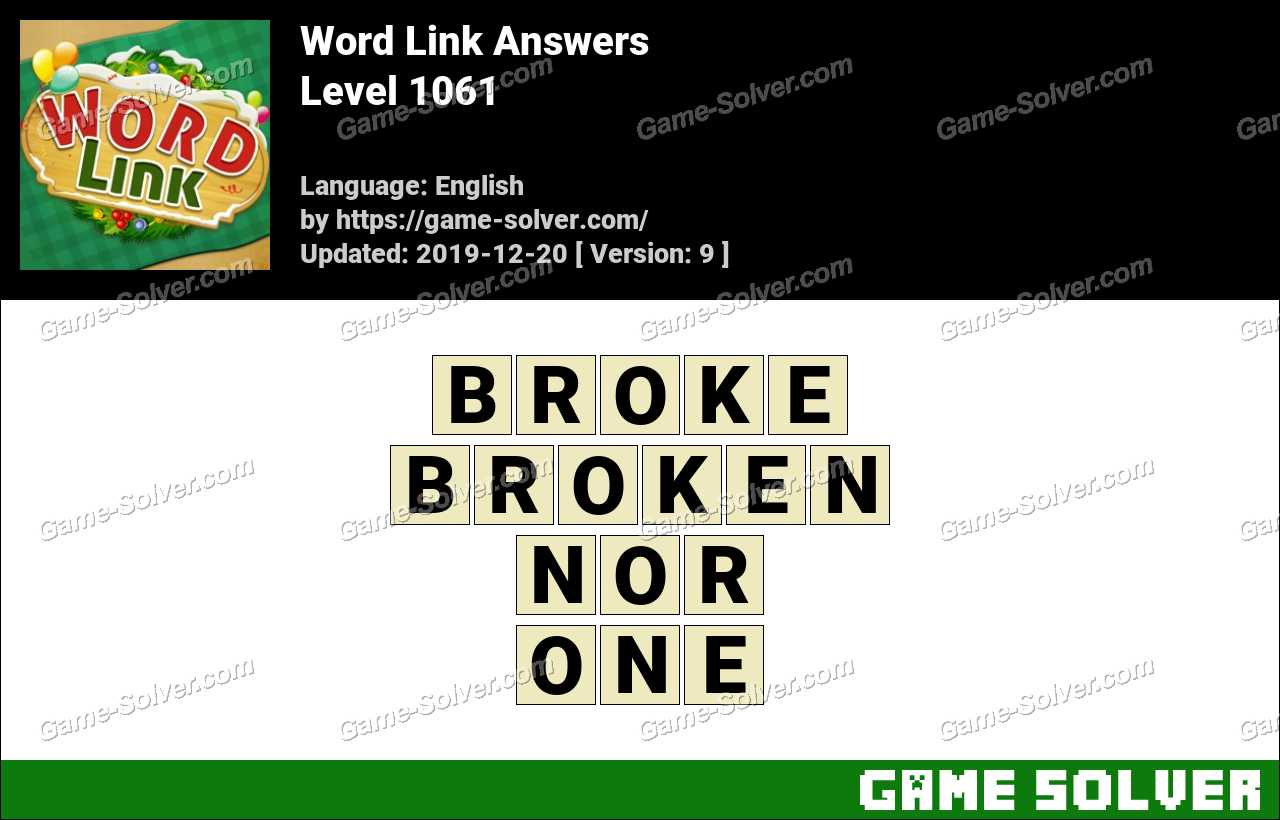 Word Link Level 1061 Answers