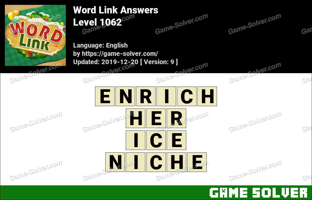Word Link Level 1062 Answers