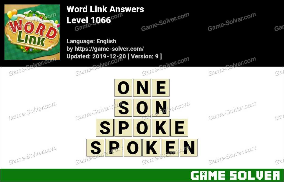 Word Link Level 1066 Answers