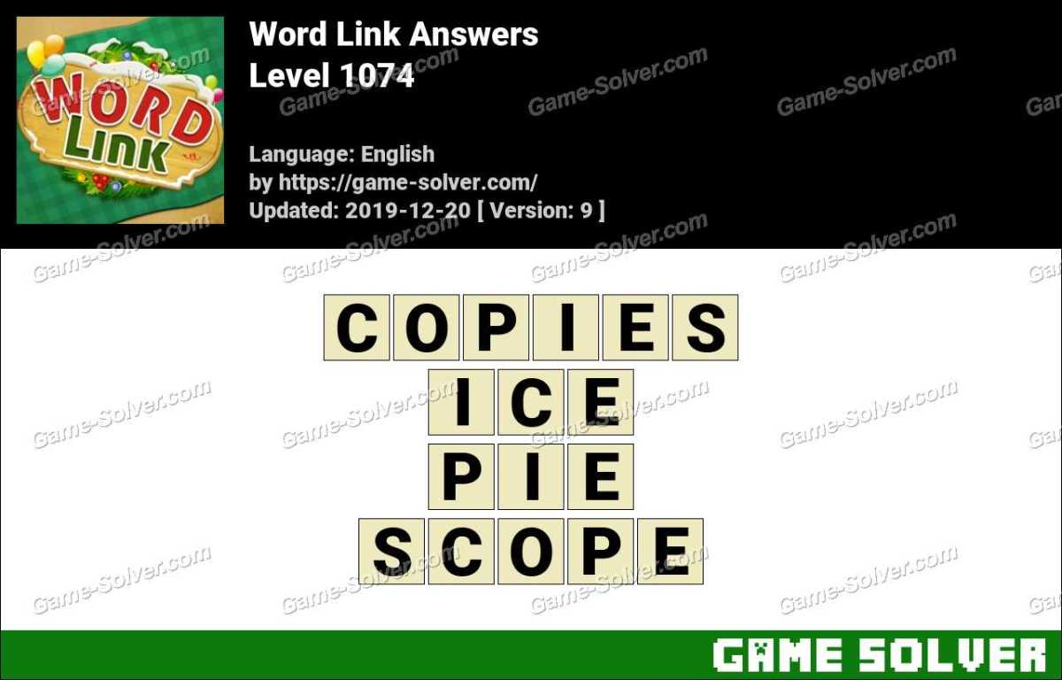 Word Link Level 1074 Answers