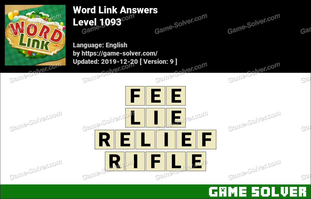 Word Link Level 1093 Answers