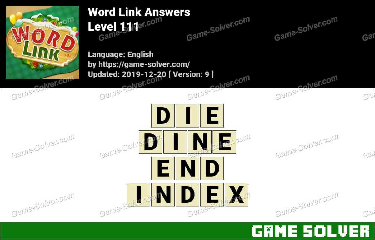 Word Link Level 111 Answers
