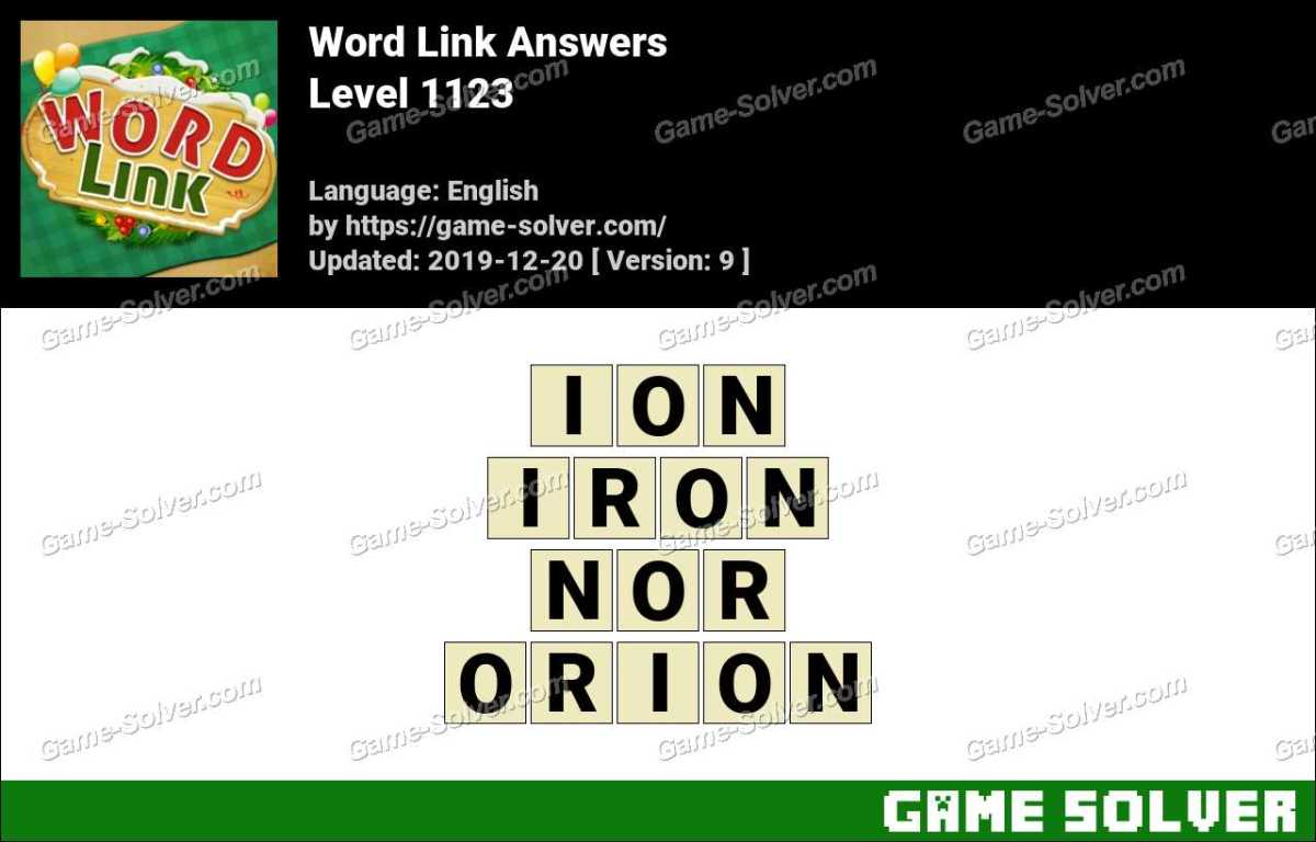 Word Link Level 1123 Answers