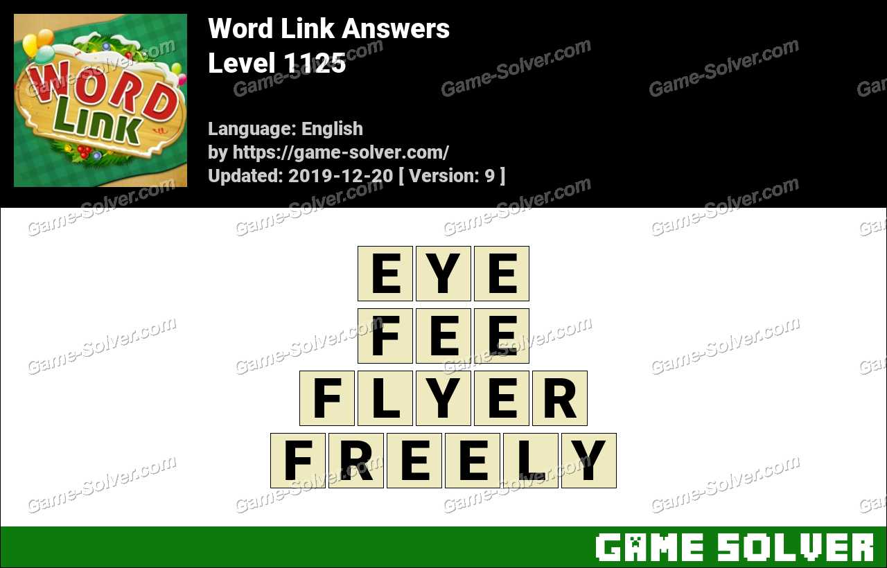 Word Link Level 1125 Answers