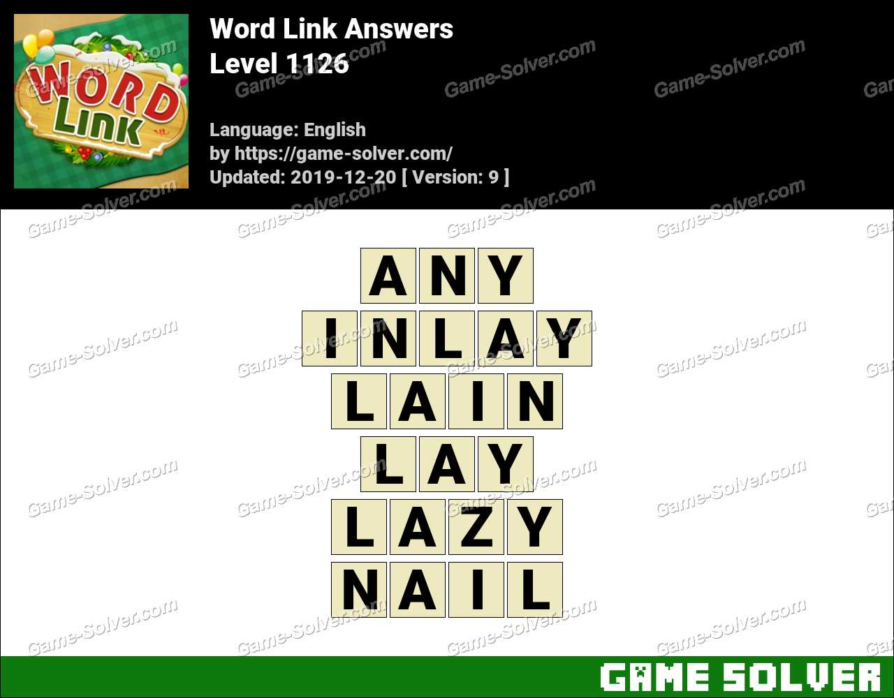 Word Link Level 1126 Answers