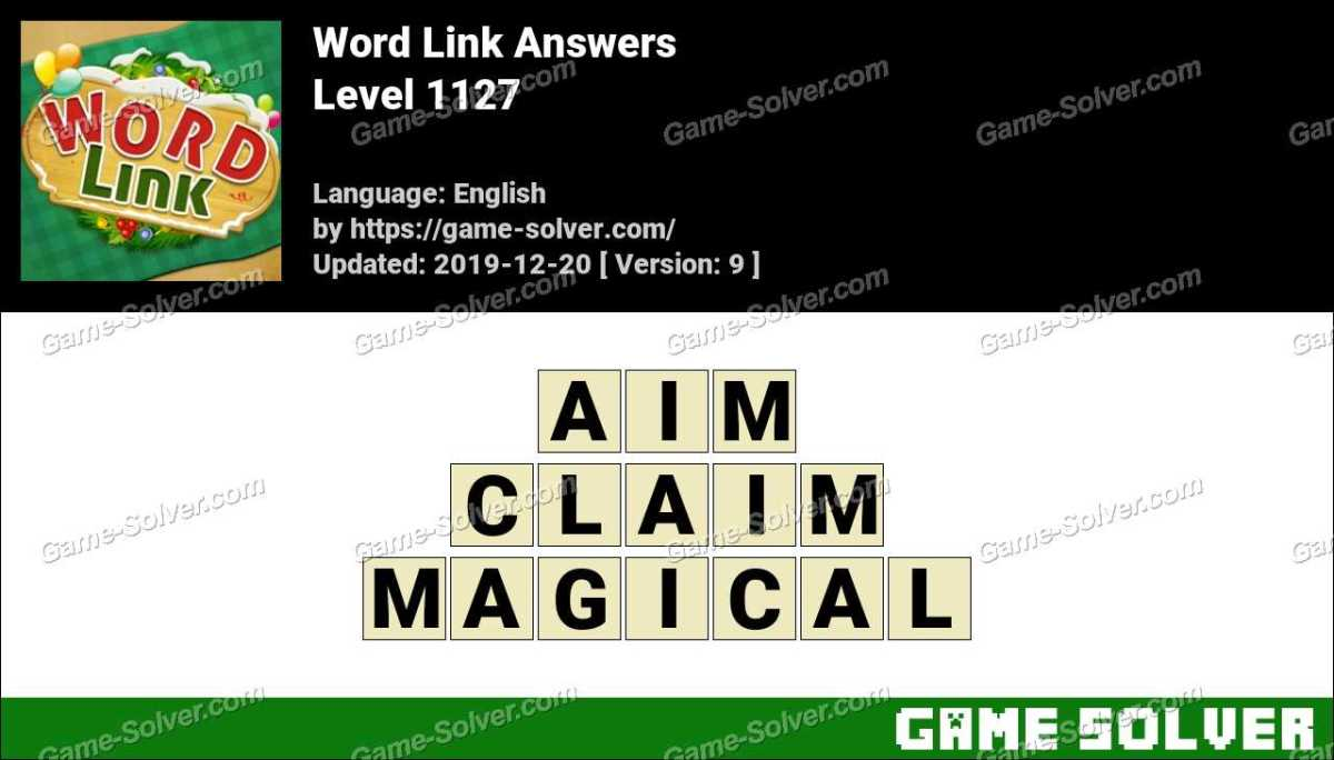 Word Link Level 1127 Answers