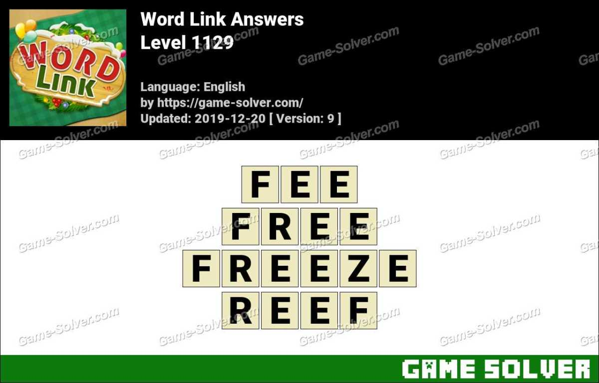 Word Link Level 1129 Answers