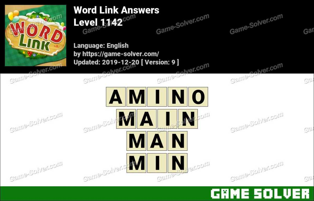 Word Link Level 1142 Answers