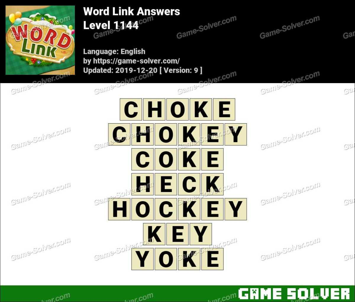 Word Link Level 1144 Answers