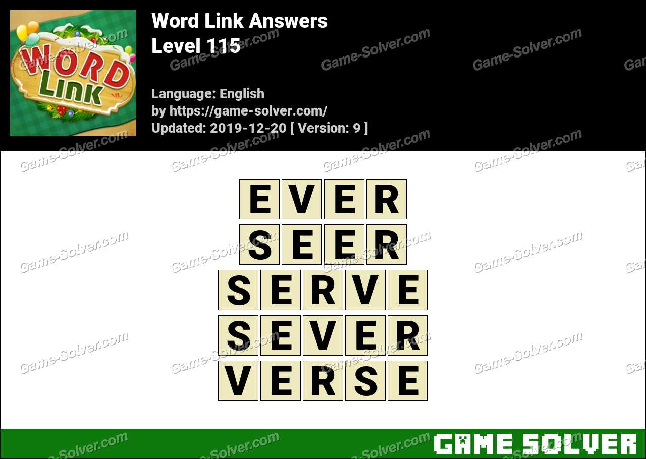 Word Link Level 115 Answers