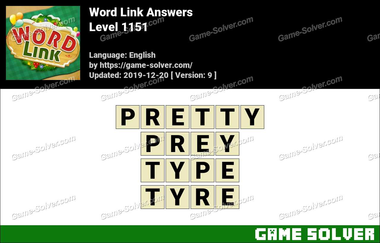 Word Link Level 1151 Answers