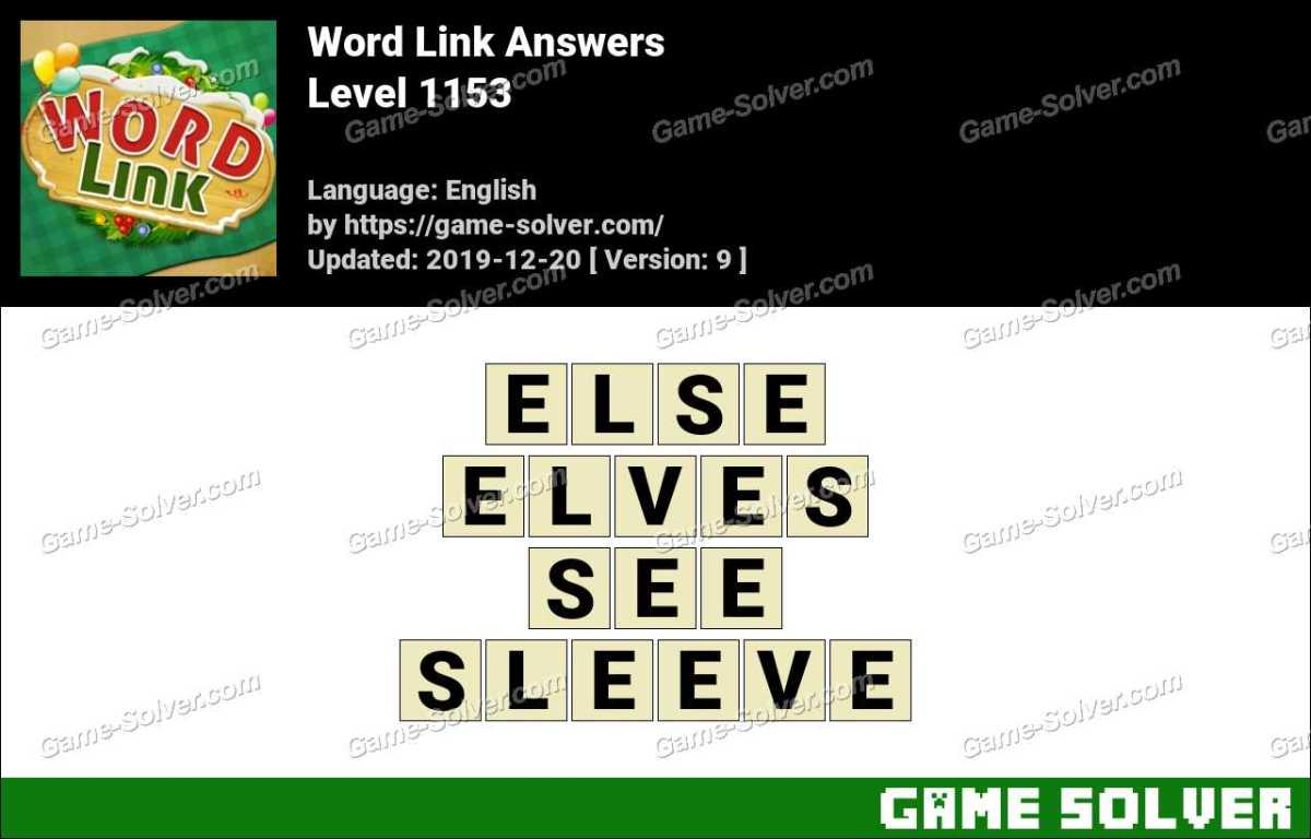 Word Link Level 1153 Answers