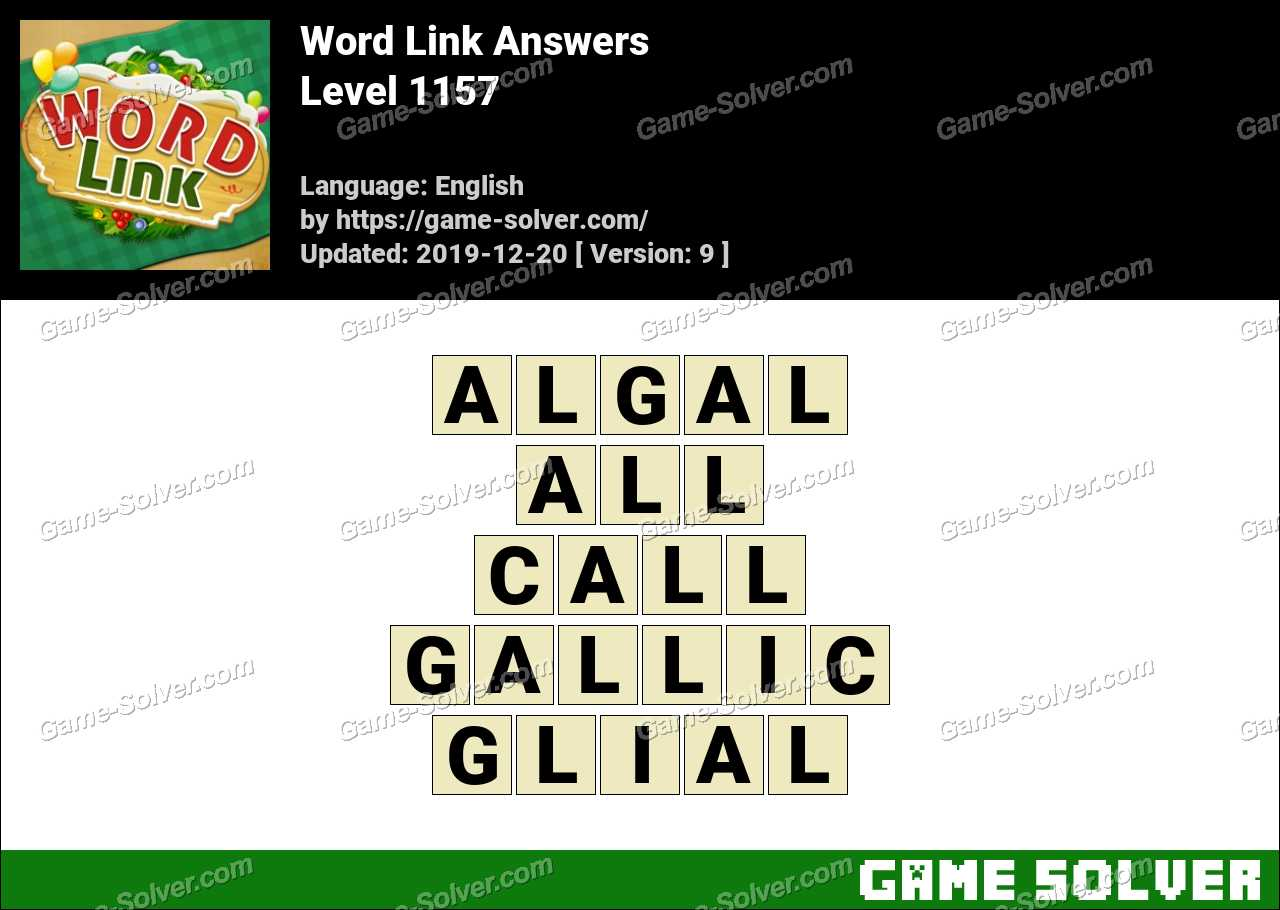 Word Link Level 1157 Answers